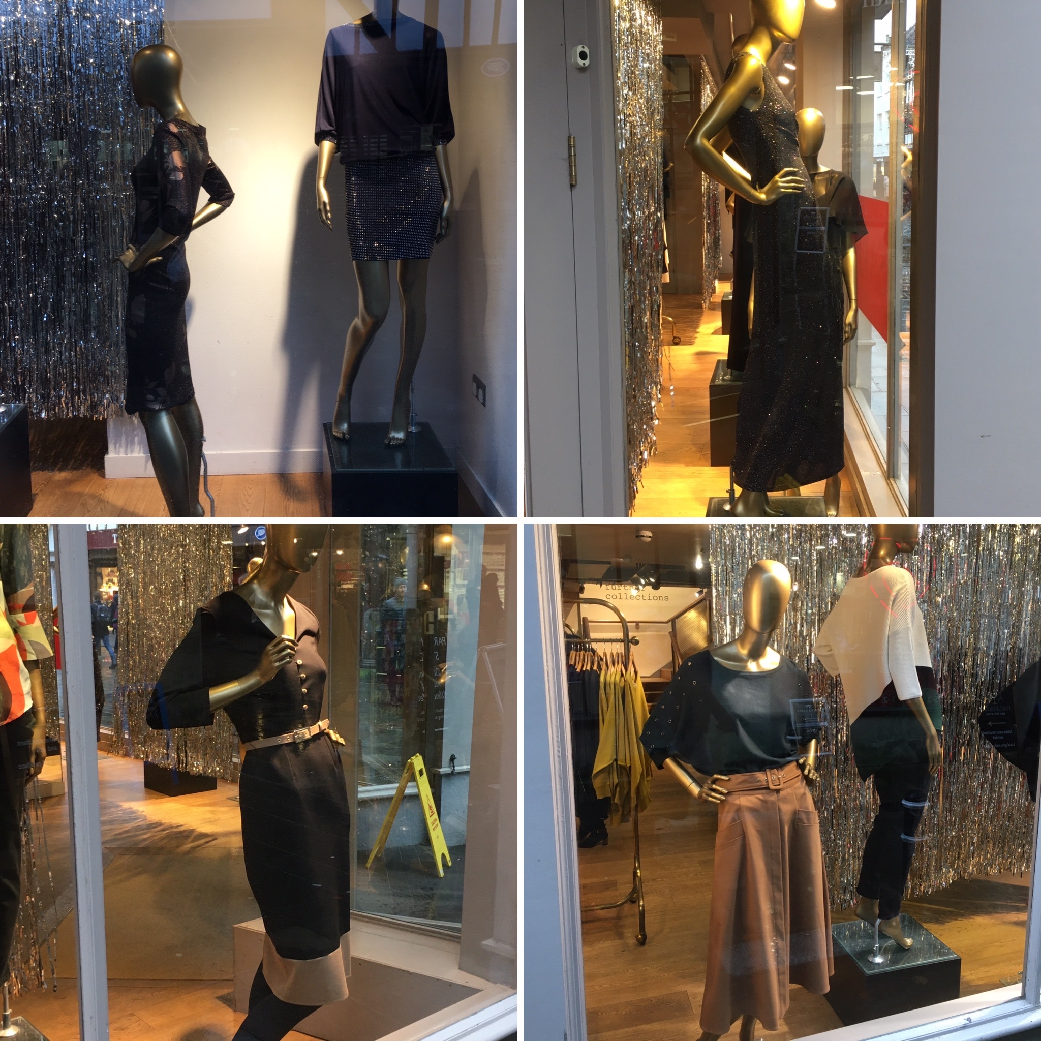 High street Mannequins - is this setting a good example of posture and how we should stand